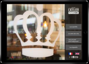 L'Atelier du Windsor offre sa carte des vins sur tablette
